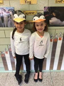 Laiyla and Jayla Penguin Day